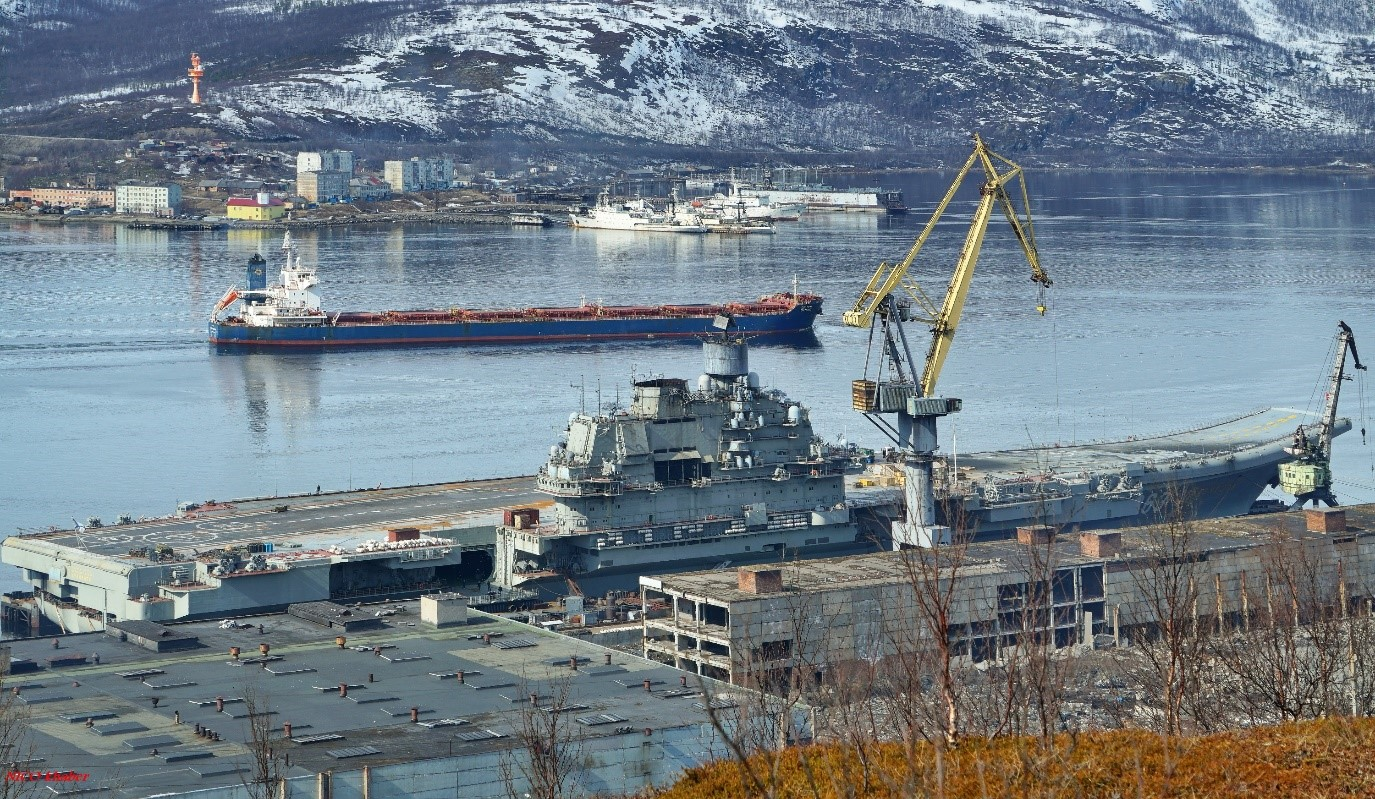 Адмирал Кузнецов в доке