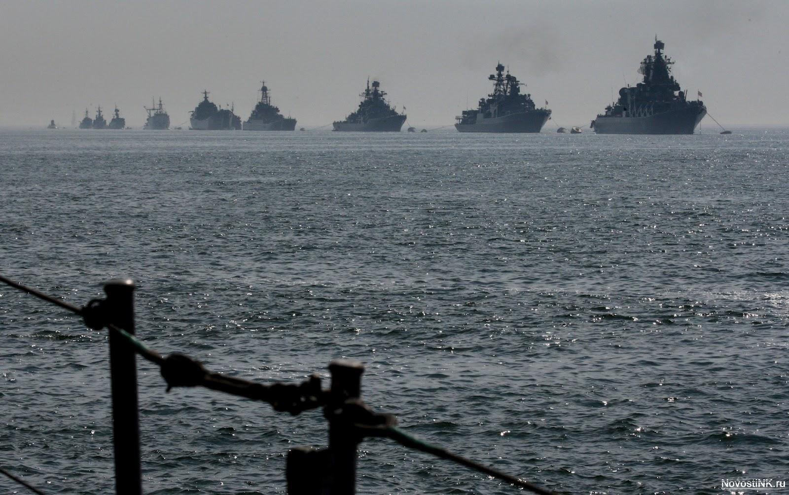 На рейде в Каспийском море
