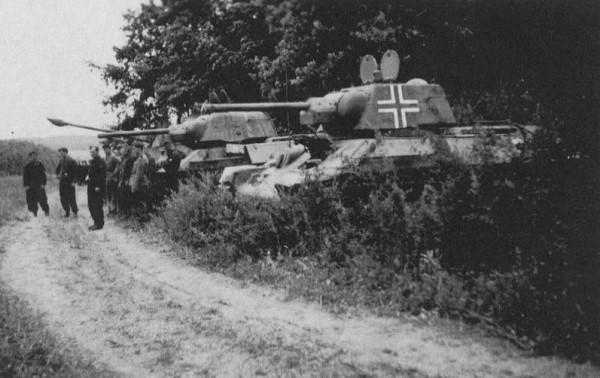 Немецкие танки в засаде