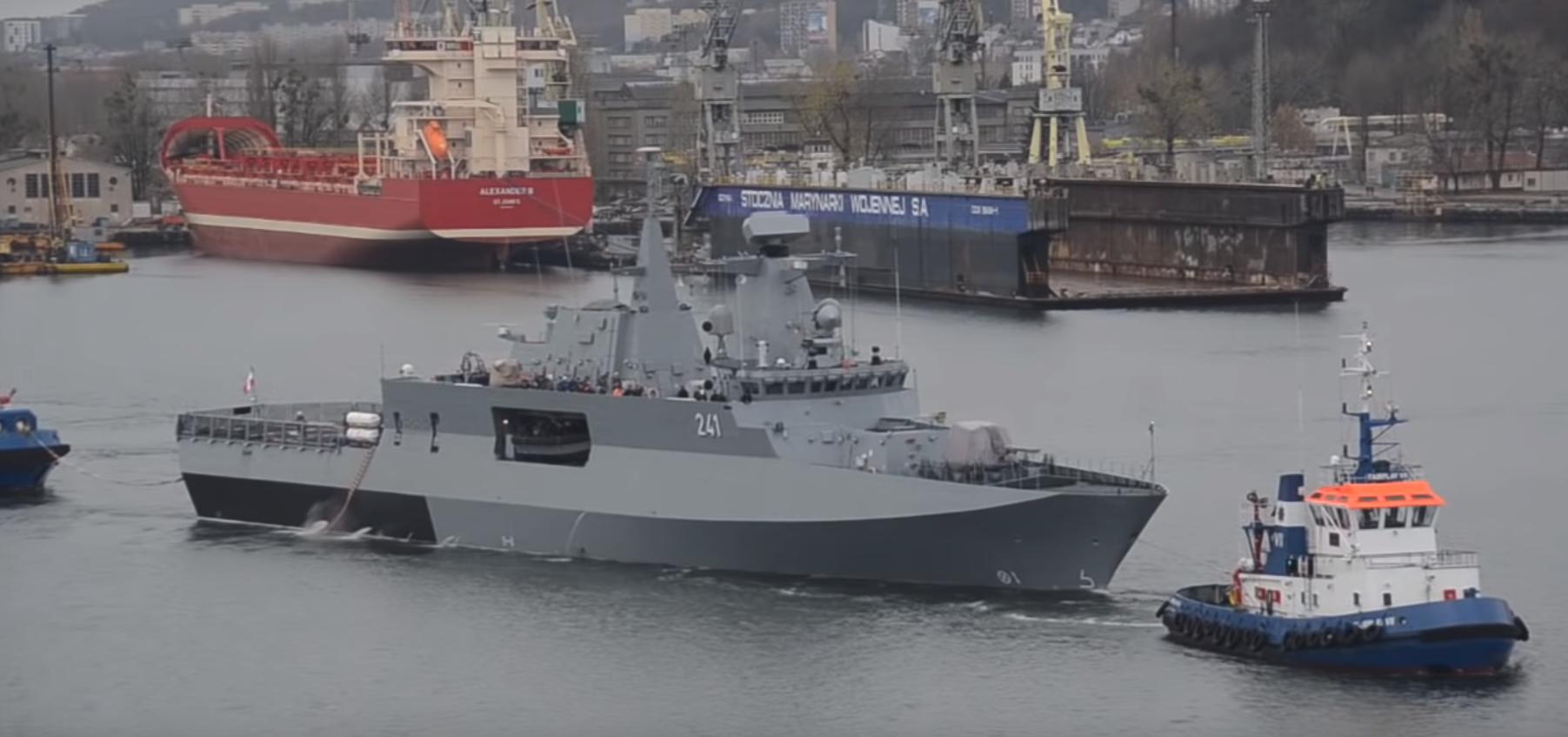 Патрульный польский корабль Шлензак