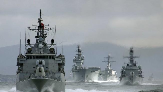 Российская эскадра в море