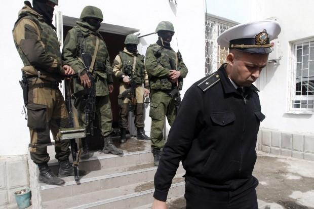 Украинские моряки покидают Крым