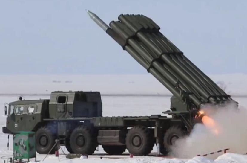 Запуск ракет «Торнадо»