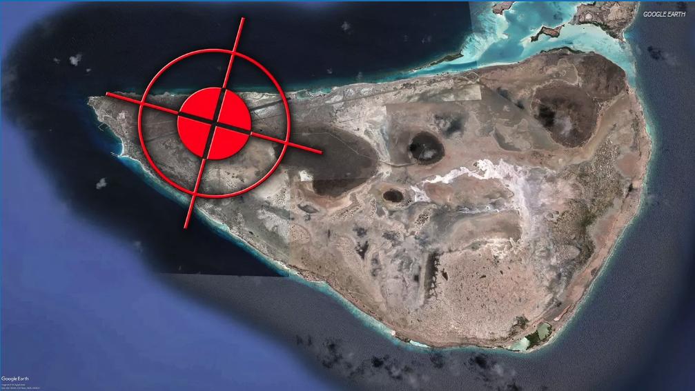 Карта предположительного месторасположения российской базы