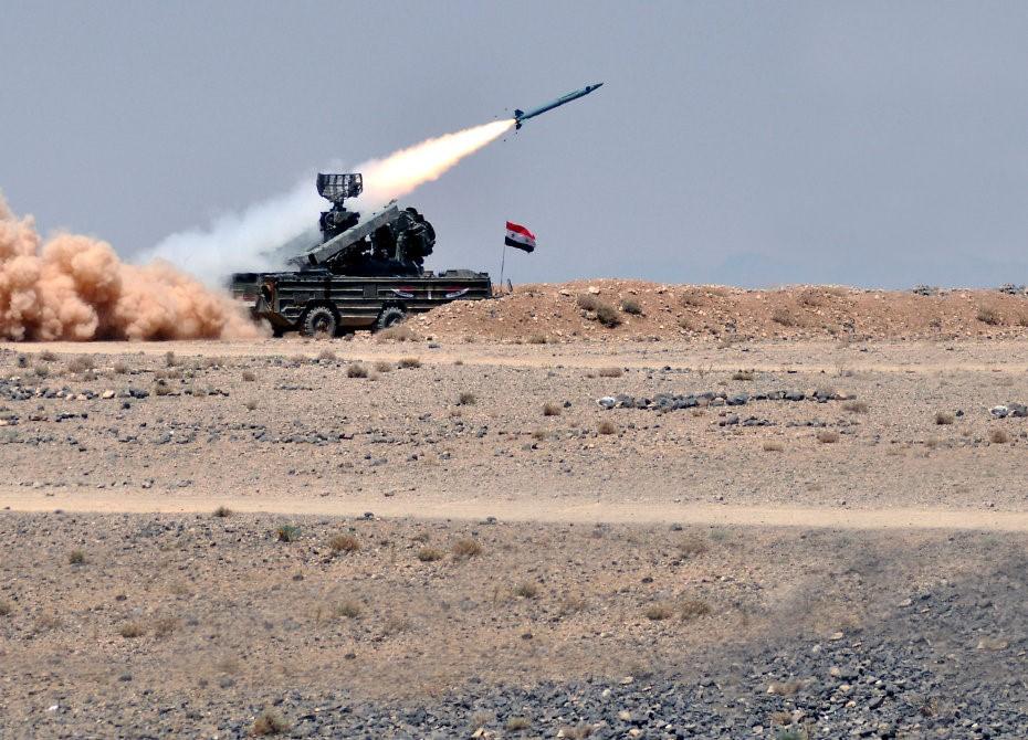 ПВО Сирии в действии