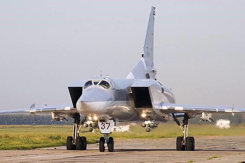 Ту-22М3М на взлетной полосе
