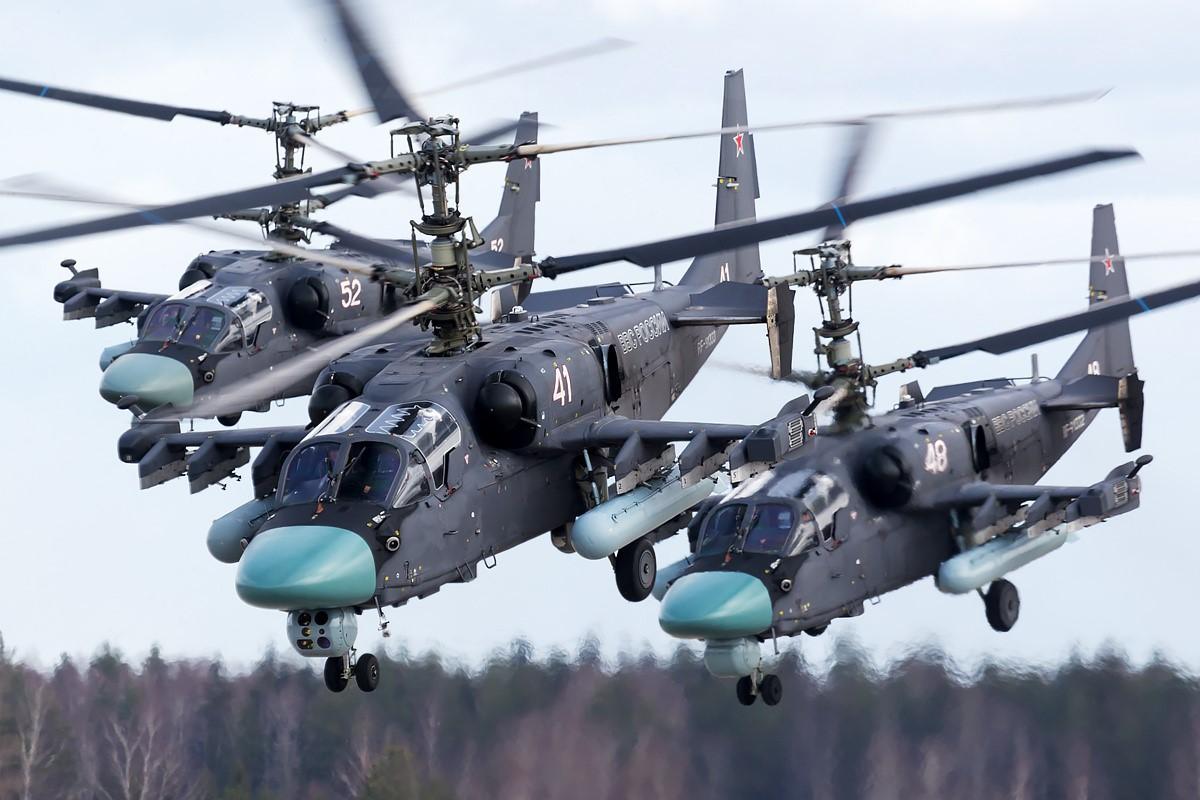 Вертолеты Ка-52 «Аллигатор»