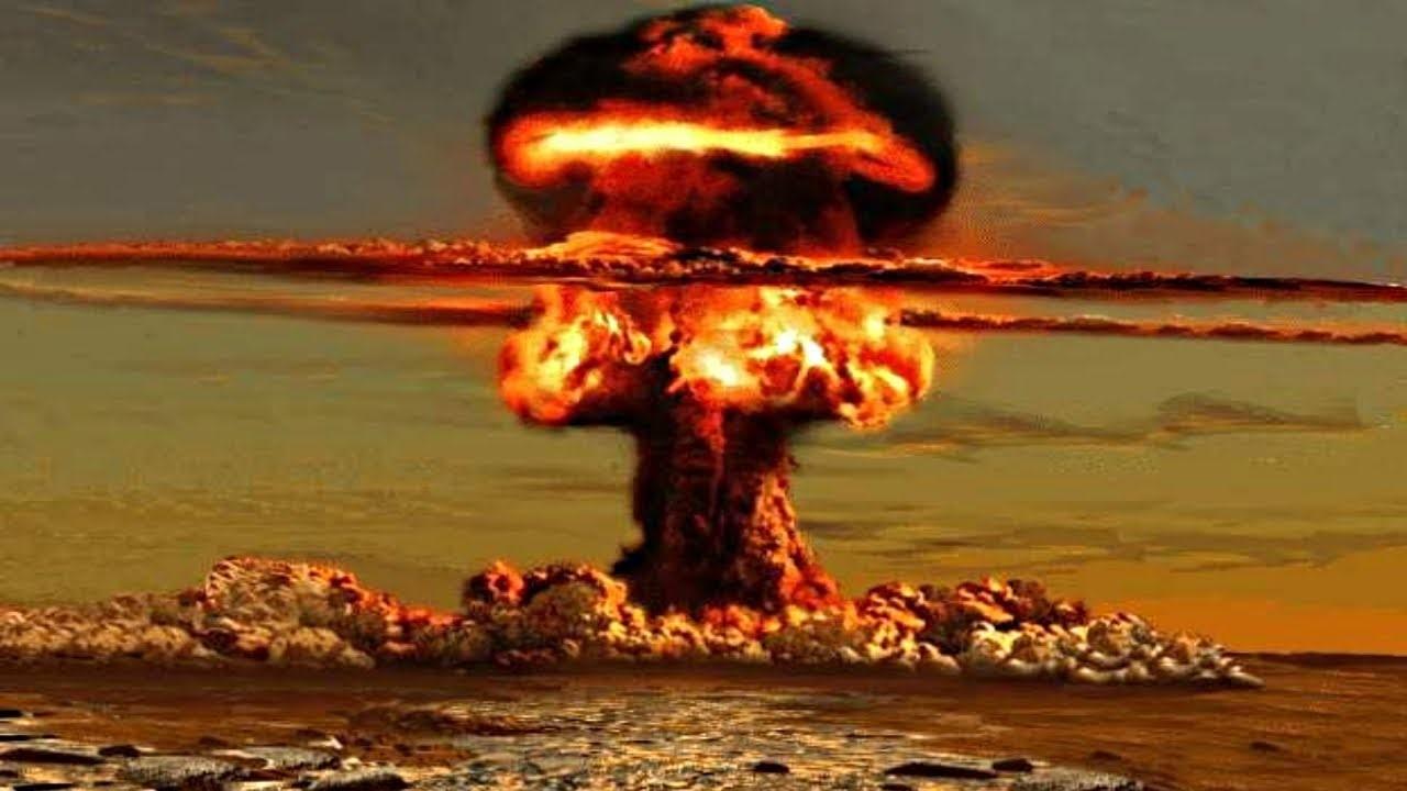 Ядерный гриб на месте города