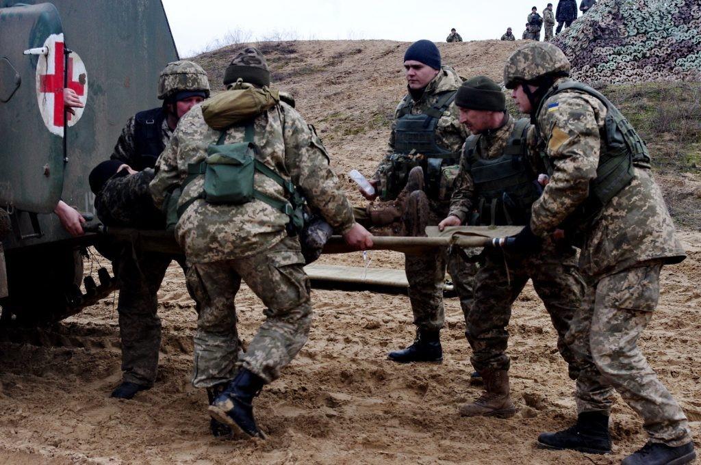 Заболевший украинский солдат