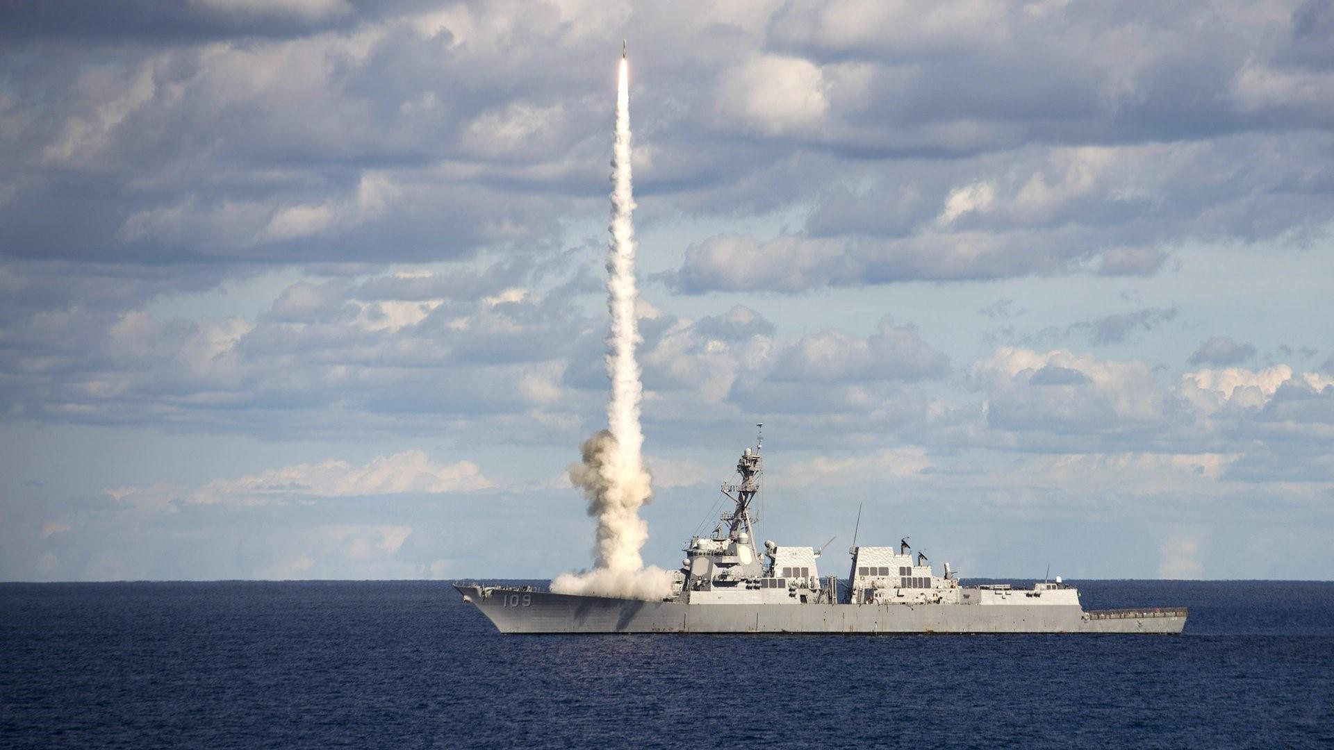 Запуск ракеты с «Томаса Хаднера»