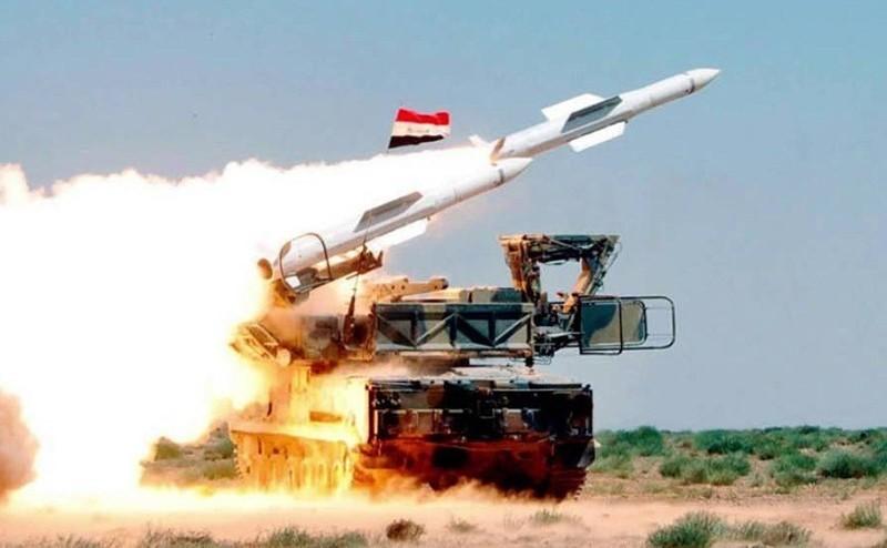 Запуск сирийской ракеты