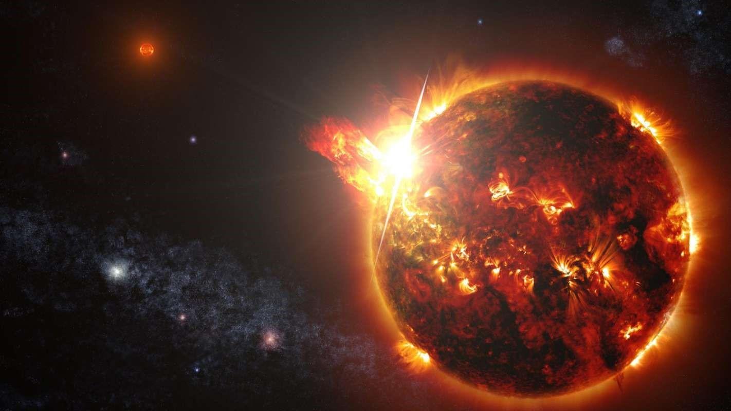 Буря на Солнце