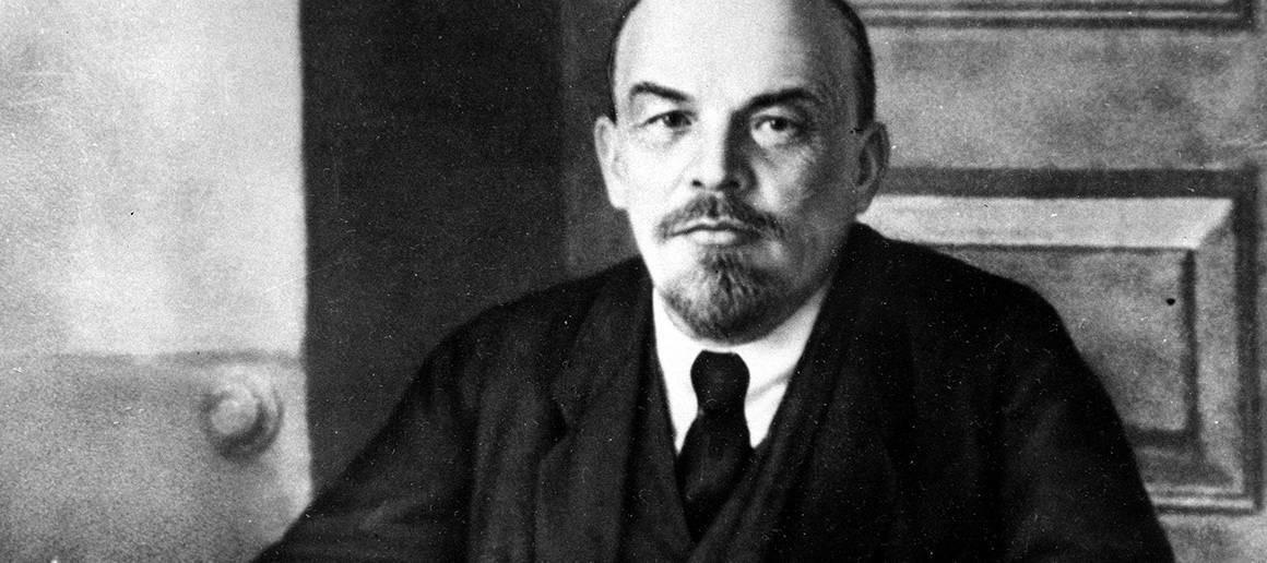 Черно-белое фото Ленина