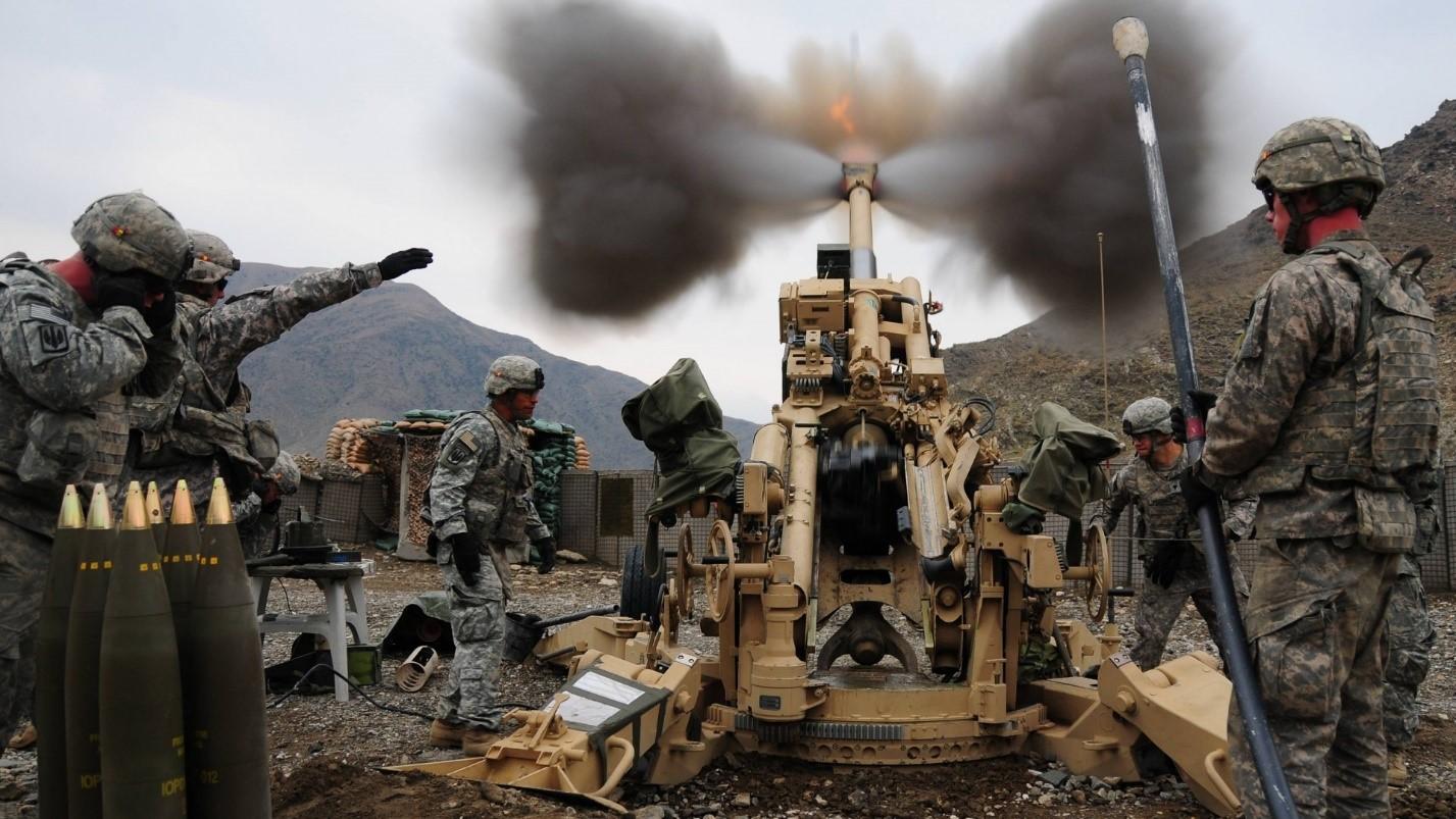 Испытания артиллерийской установки