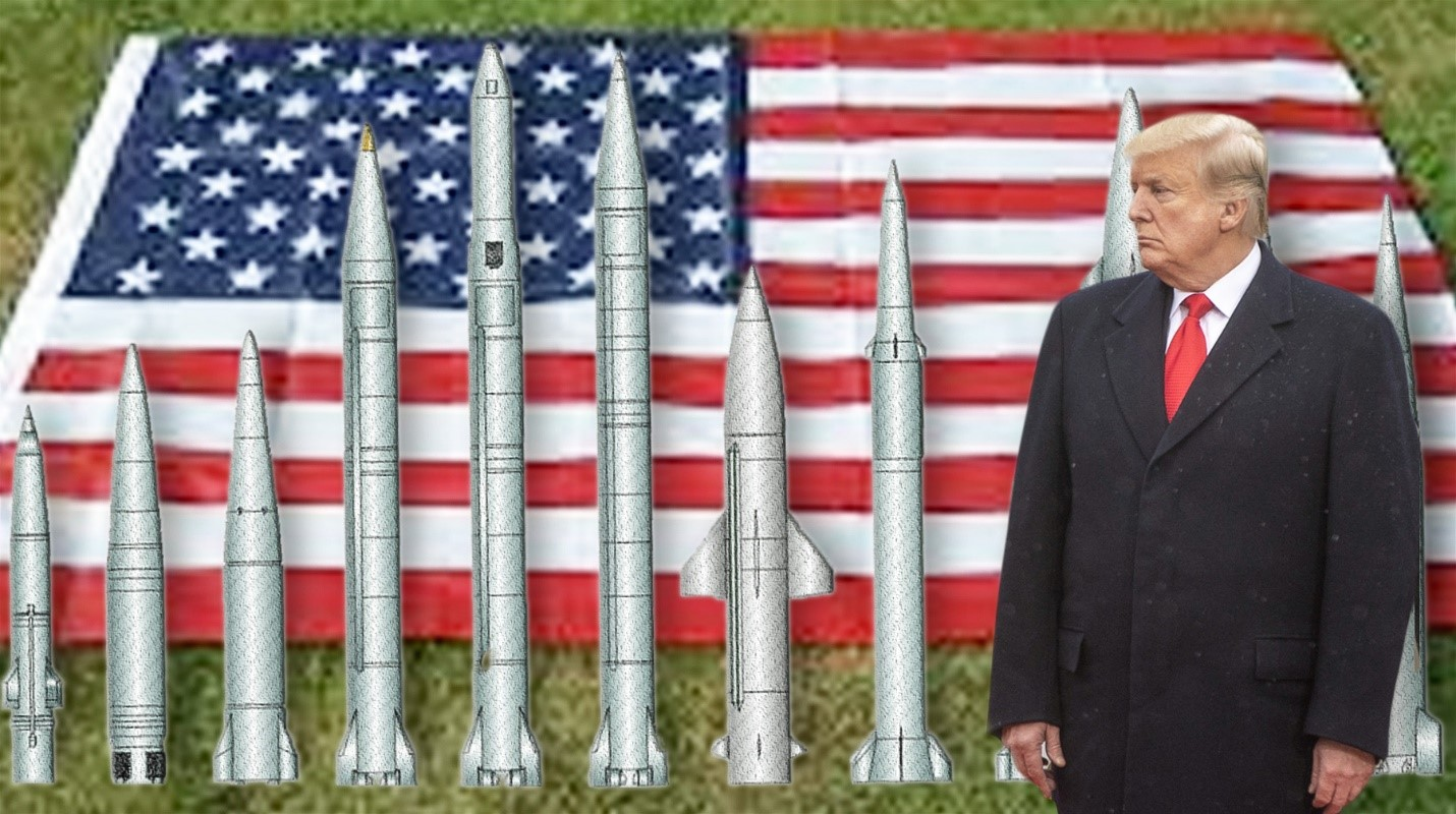 Карикатура: Трамп и ракеты