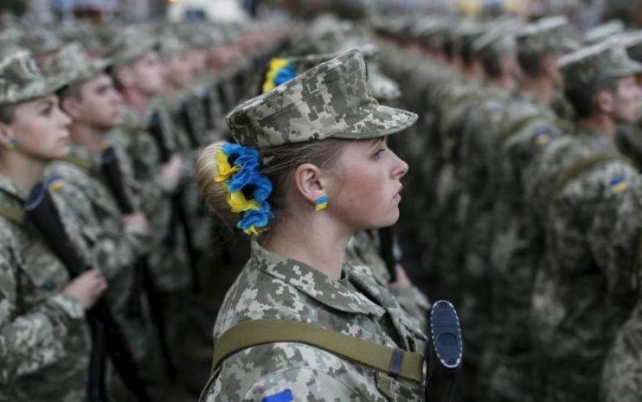Марширующие украинки