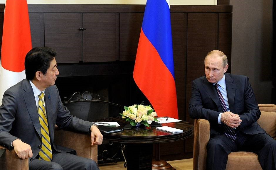 Президент России и премьер-министр Японии