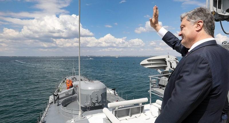 Президент Украины на корабле