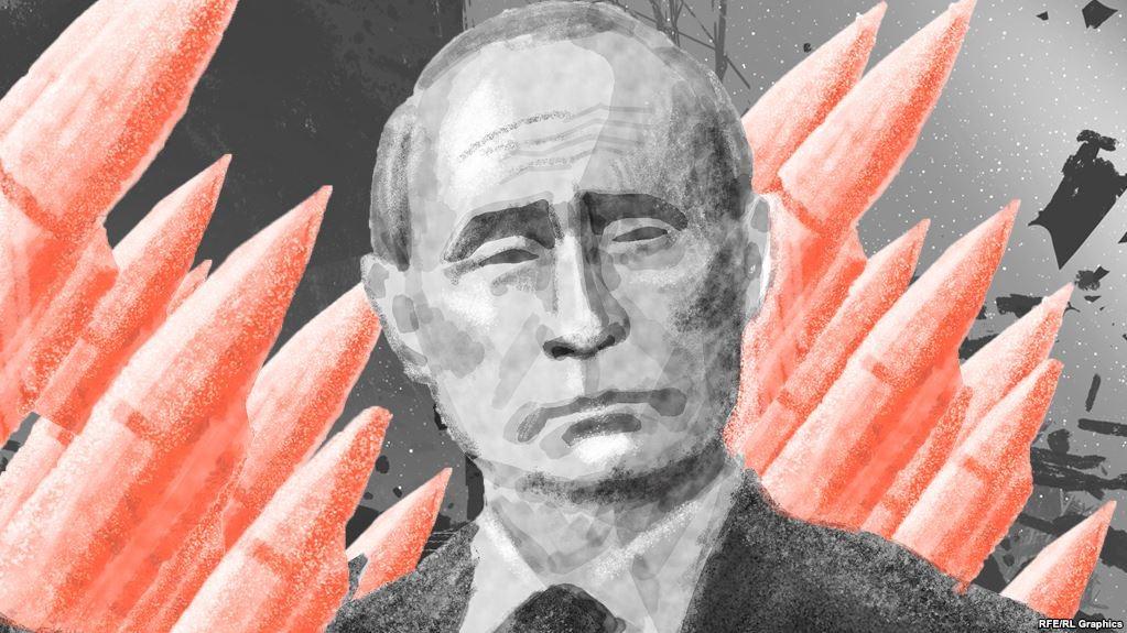 Путин на фоне ракет