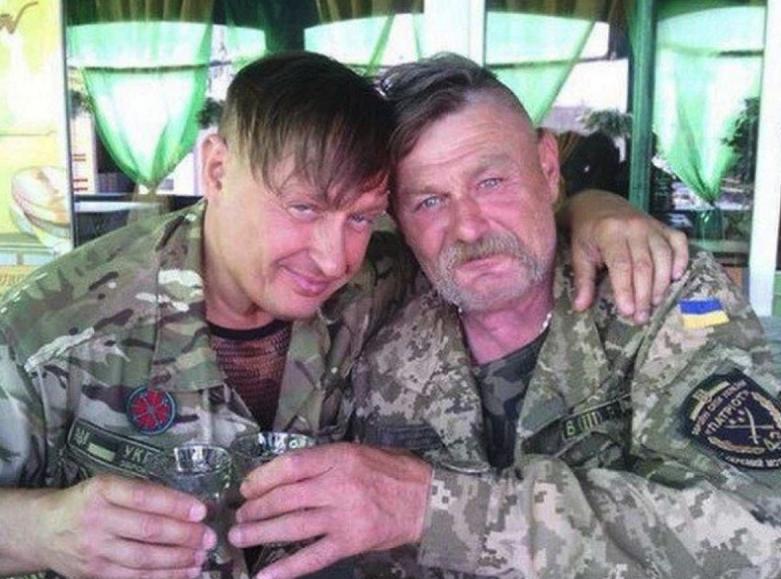 Пьяные украинские танкисты