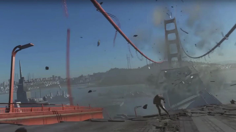 Разрушение моста в Сан-Франциско