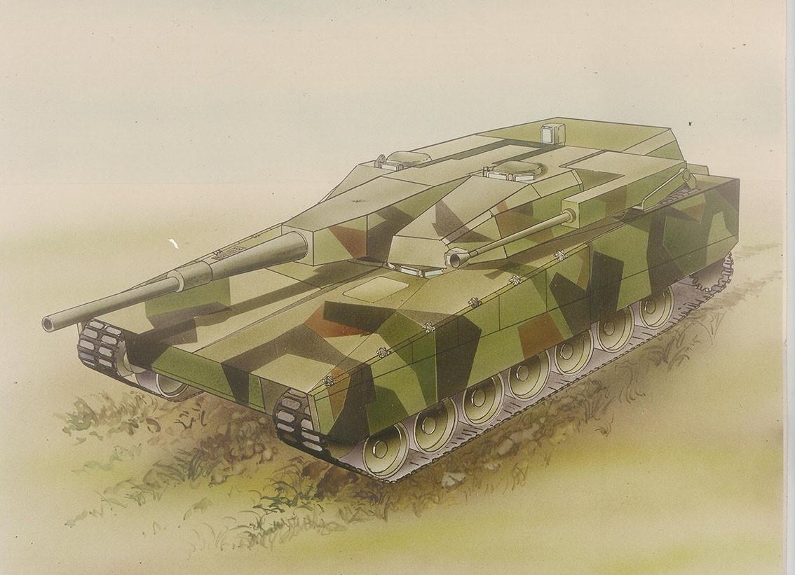 Схема шведского танка Stridsvagn-2000