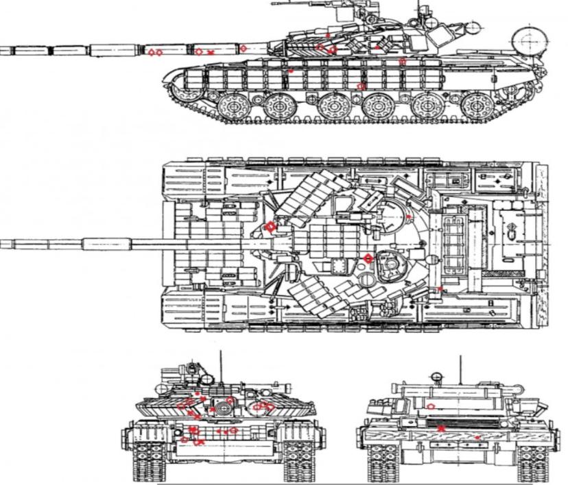 Слабые зоны Т-64