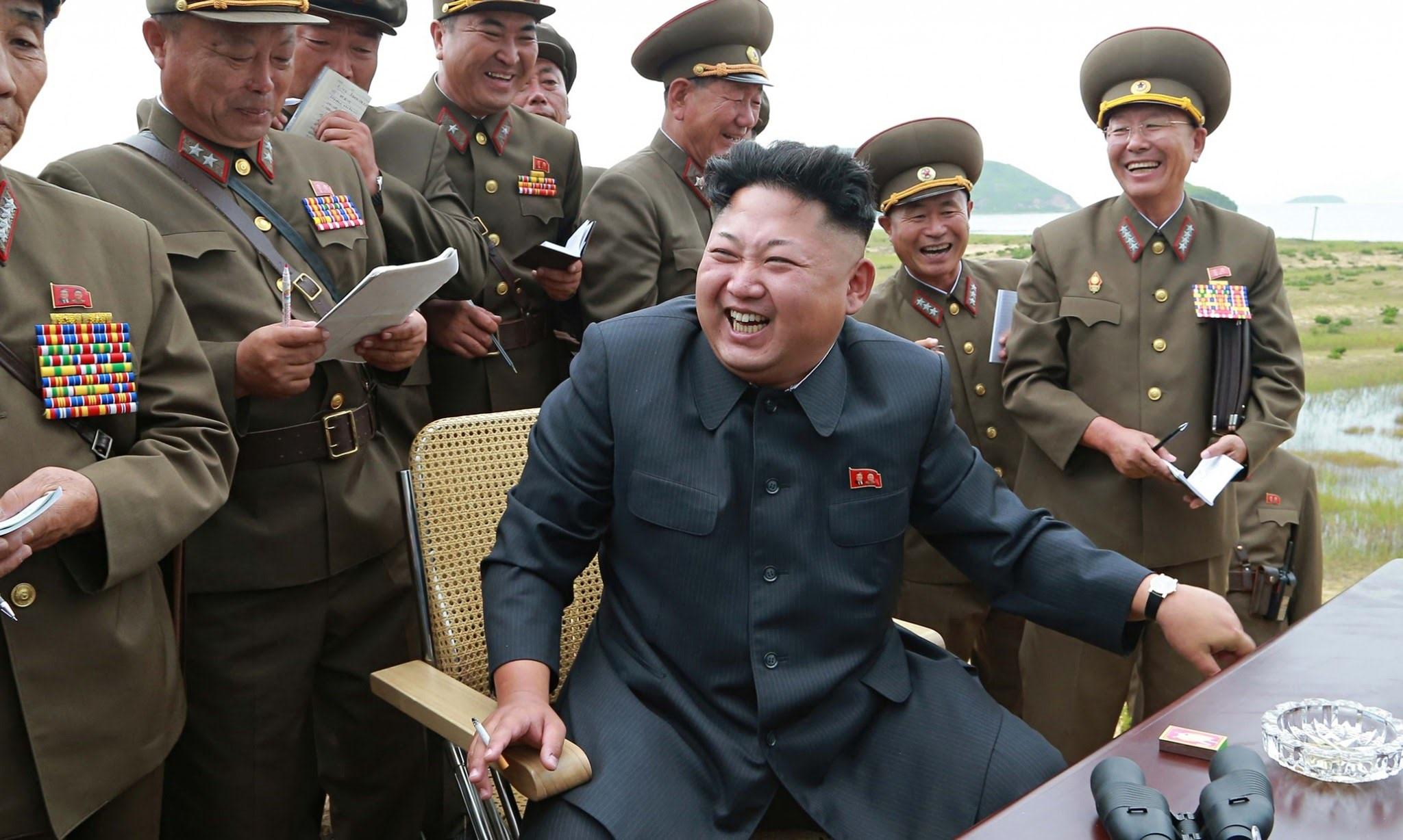 Смеющийся Ким Чен Ын