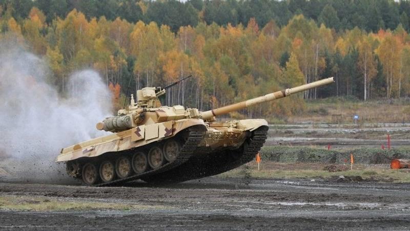 Т-90С на полигоне