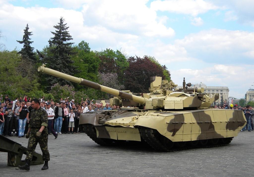 Украинский танк на Параде