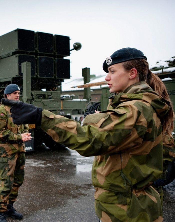Военнослужащая армии Норвегии