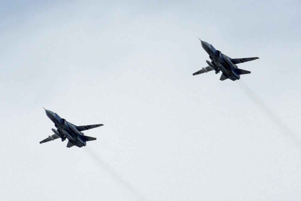 Выполнение маневров Су-34