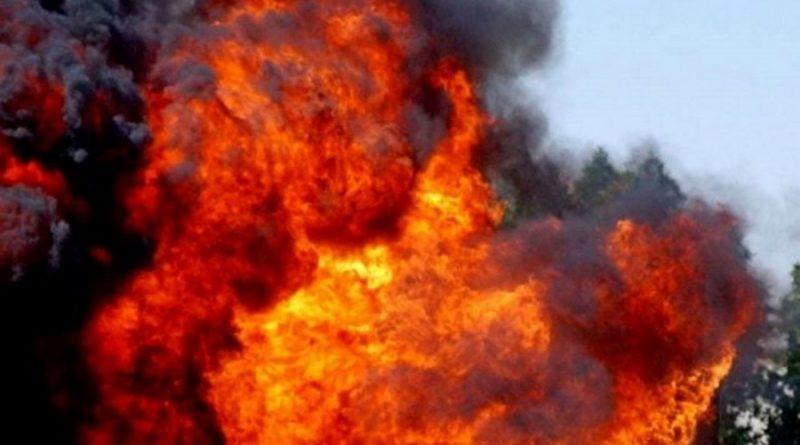 Взрыв миномета «Молот»