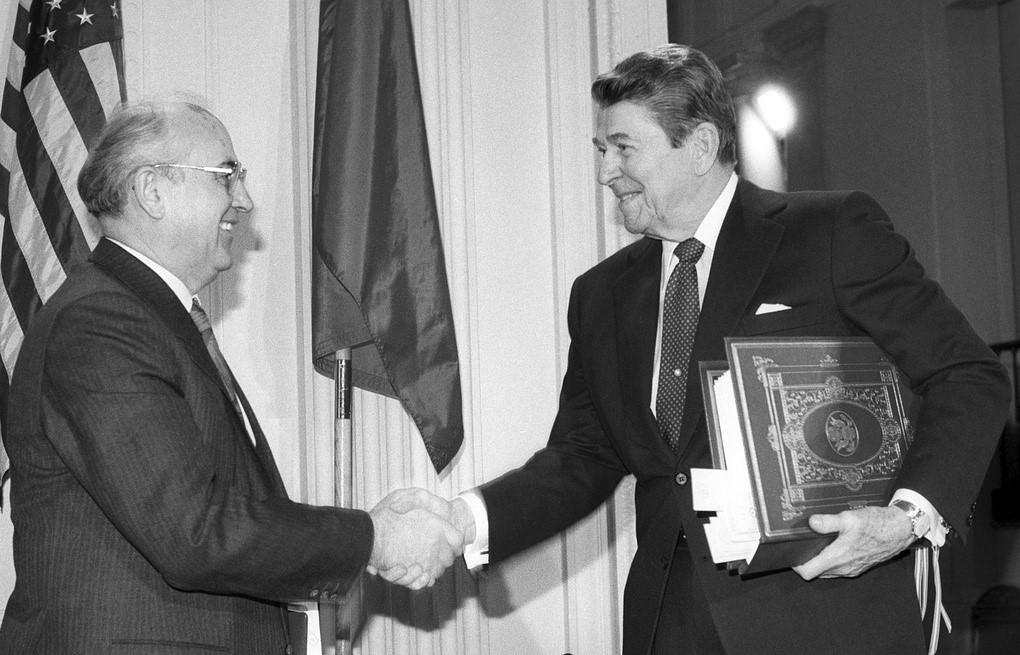 Заключение ДРСМД в 1987