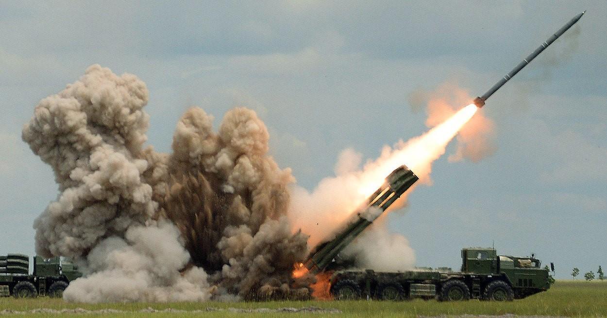 Запуск ракеты с беспилотником