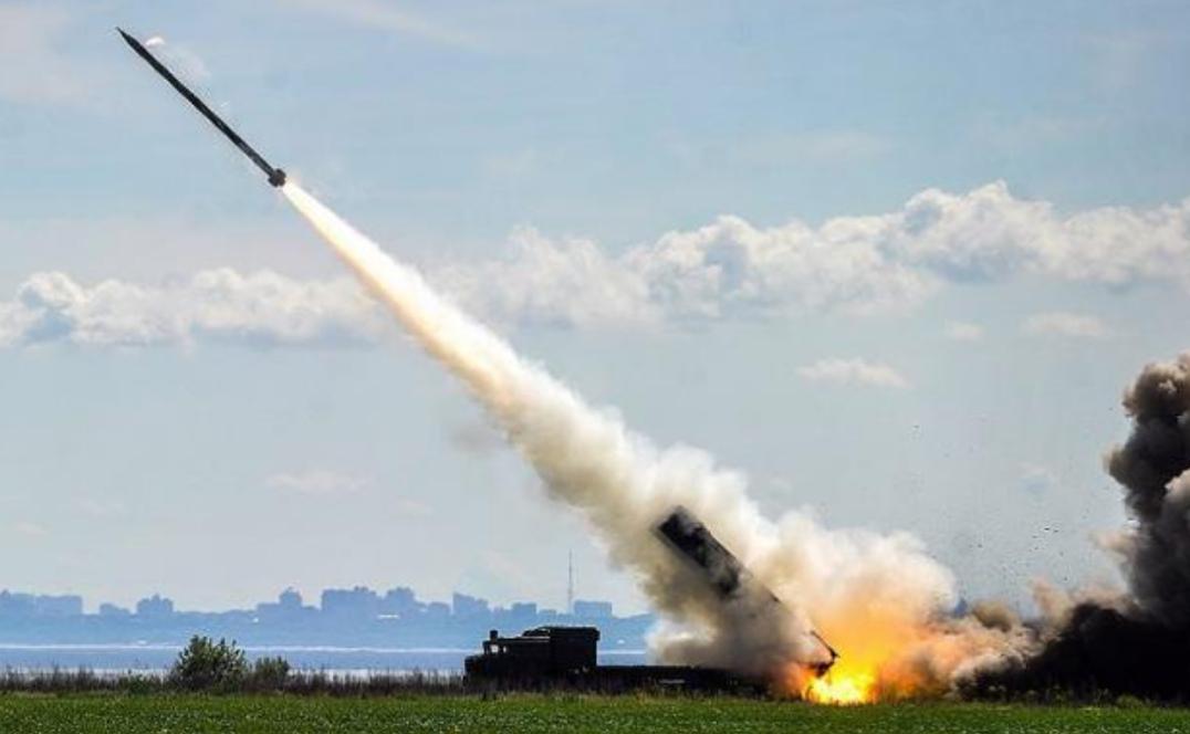 Запуск ракеты с комплекса «Ольха»