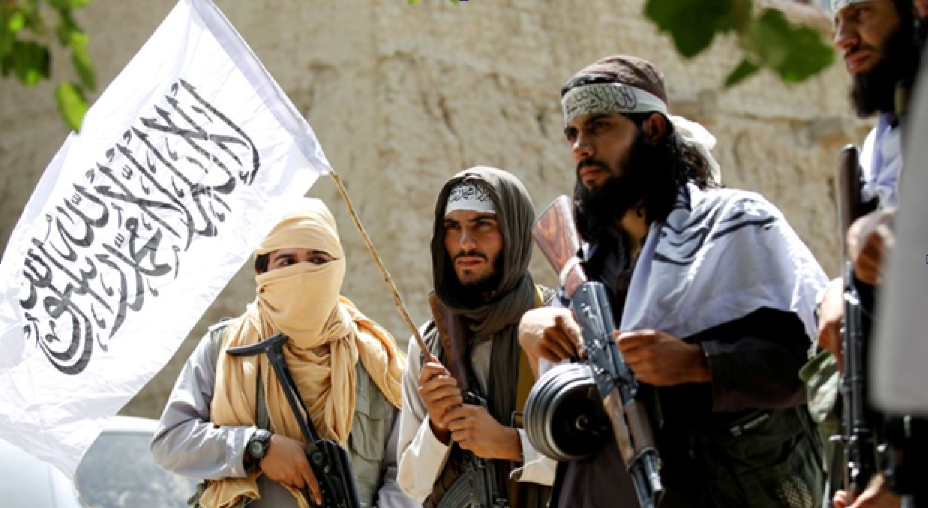 Боевики под флагом «Талибану»