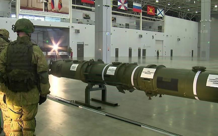 Демонстрация ракеты 9М729 на брифинге РФ