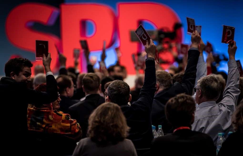 Голосование на съезде СДПГ