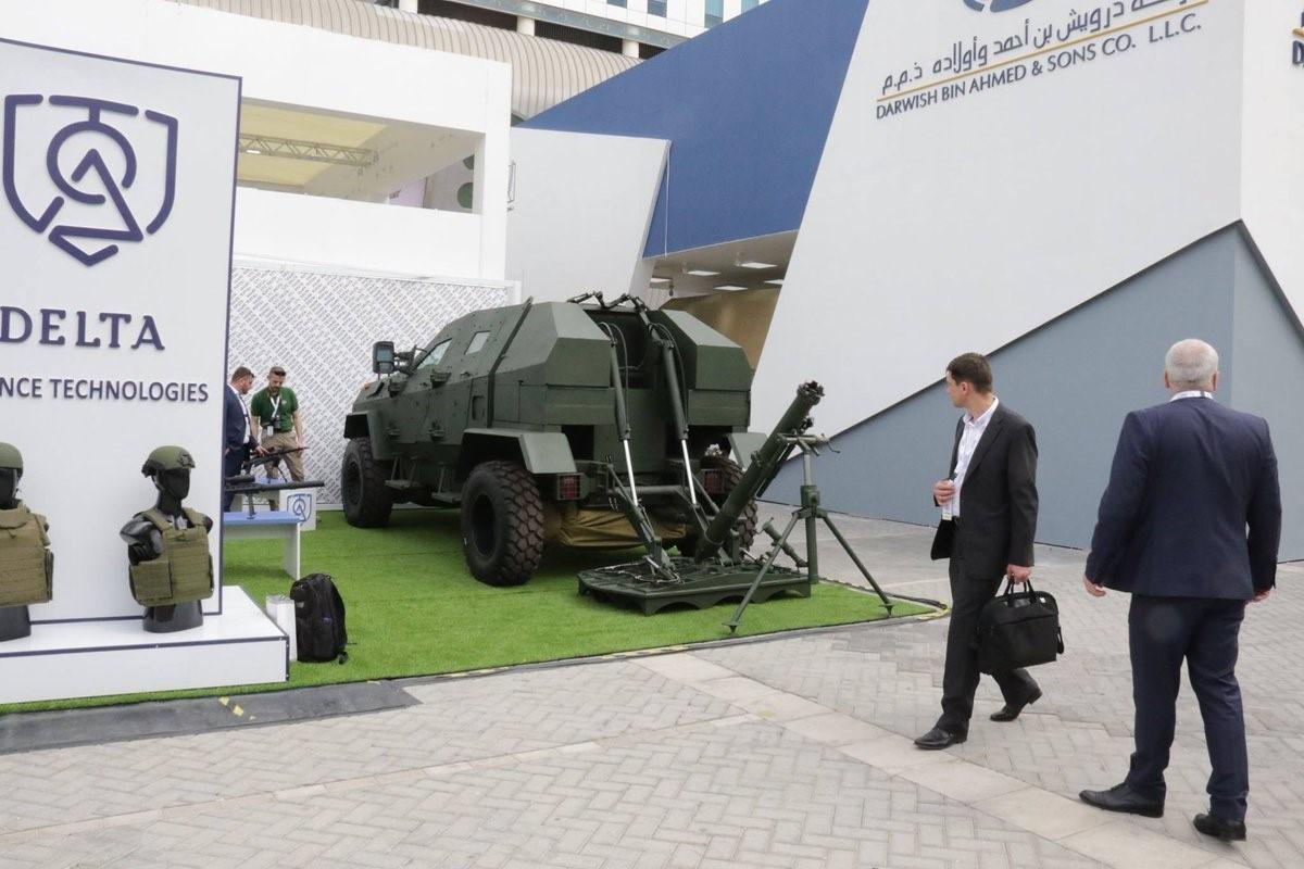 Грузинский миномет на выставке в Абу-Даби