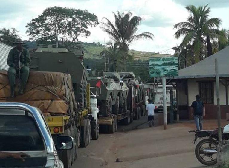 Гуманитарный конвой на границе с Венесуэлой