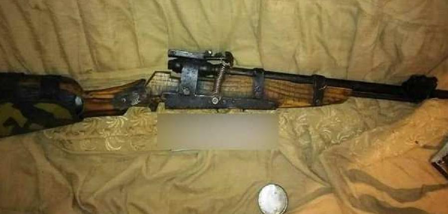 Изъятое гладкоствольное ружье