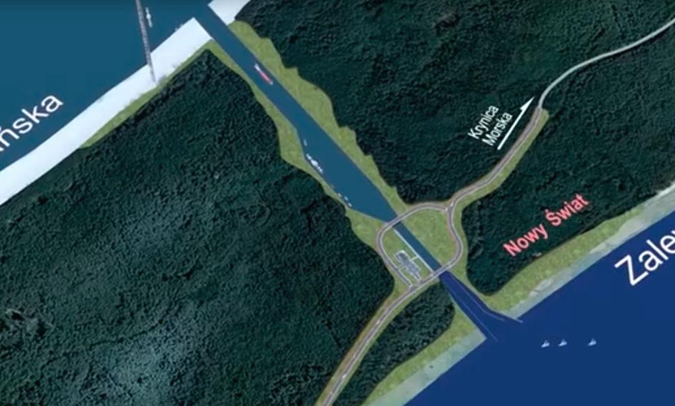 Карта строительства канала