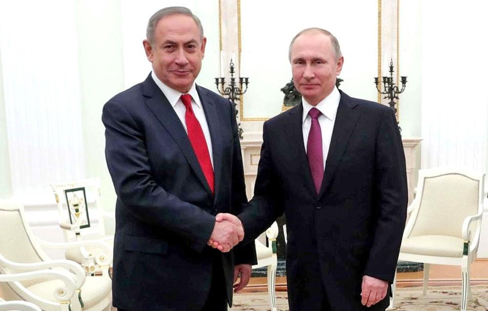 Рукопожатие Путина и Нетаньяху