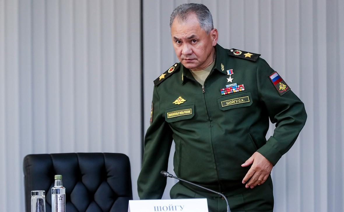Сергей Шойгу на пресс-конференции