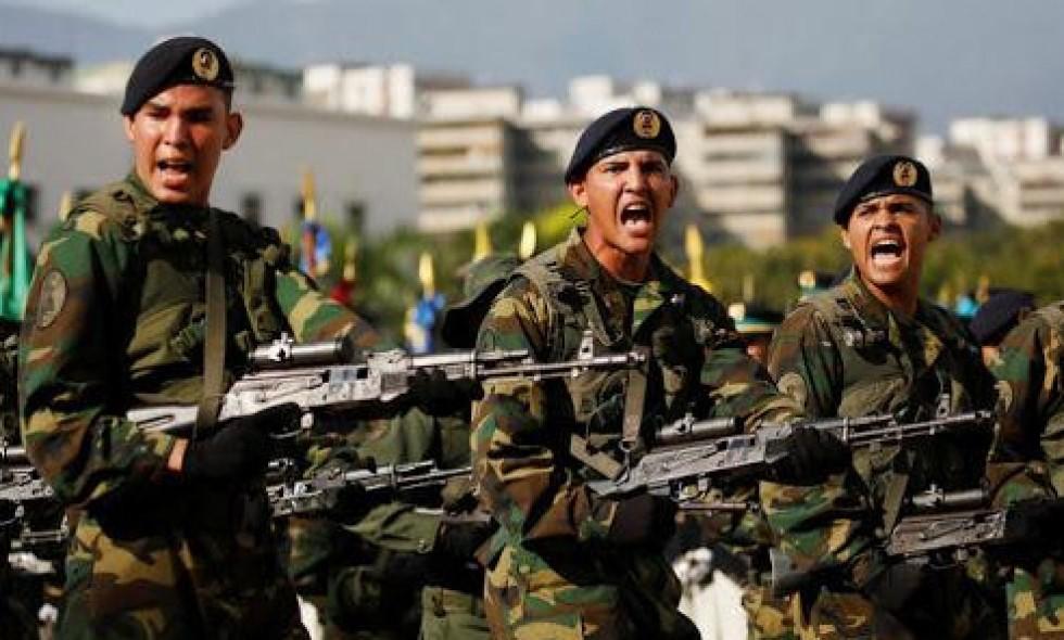 Солдаты венесуэльской армии