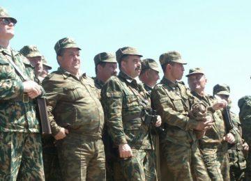 Солдаты запаса на сборах