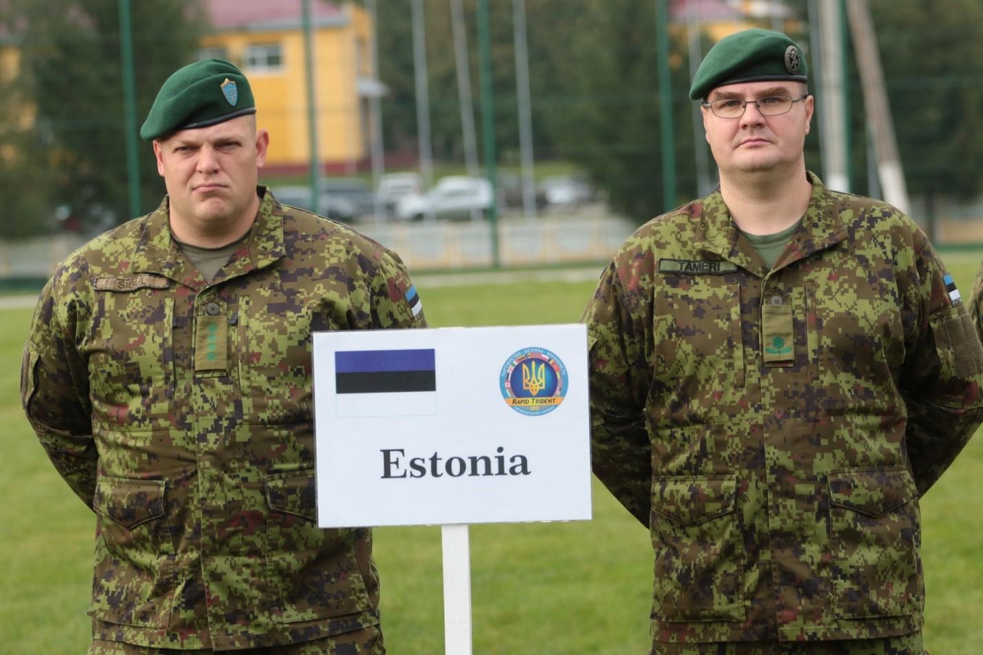 Солдаты Эстонии и Украины