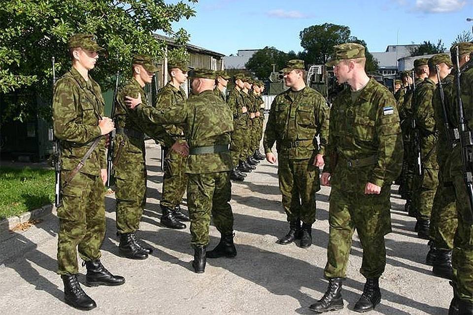 Строй эстонских солдат