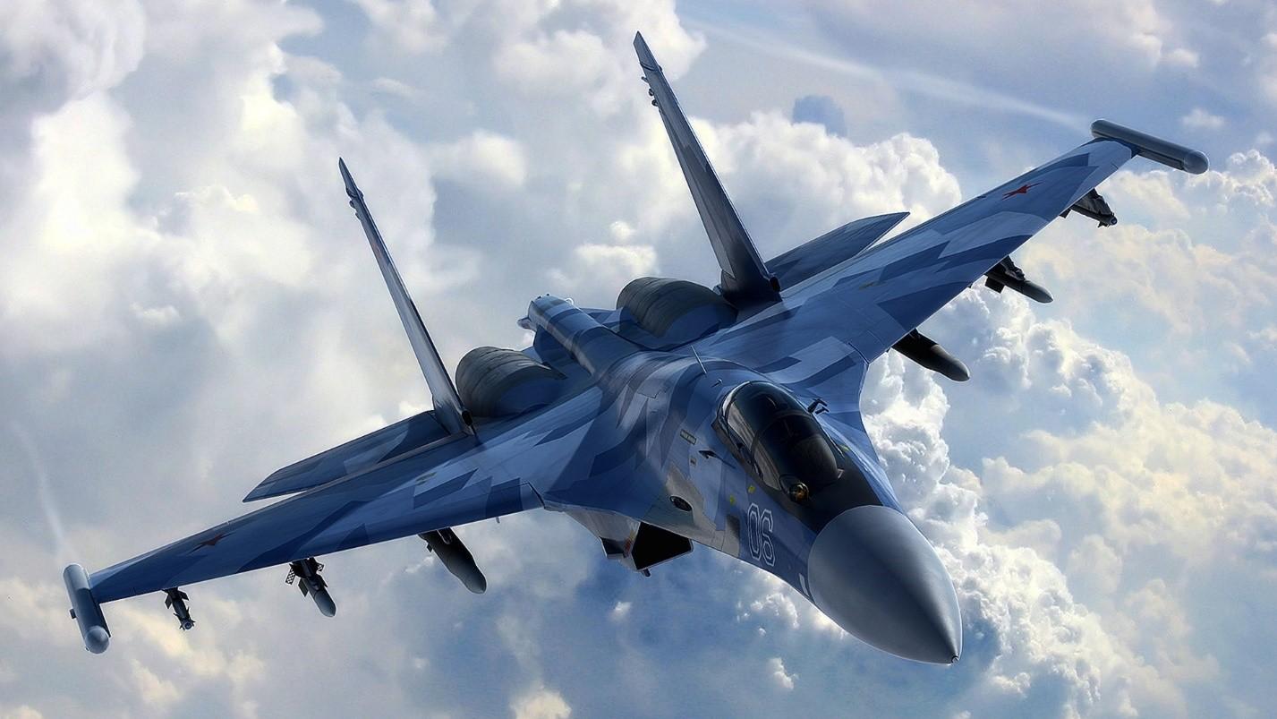 Су-27 в полете